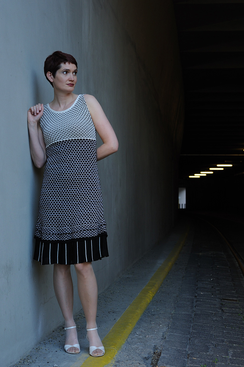 Dress black&white Knitwear