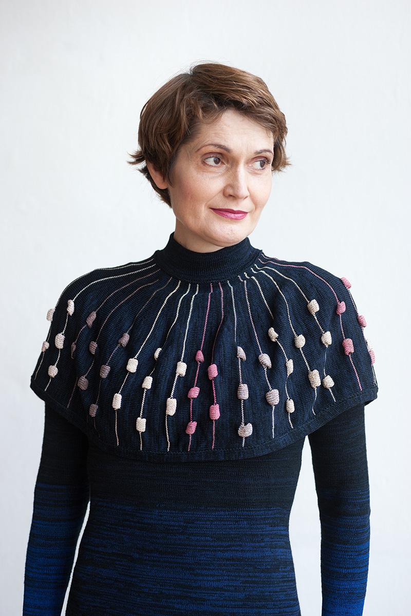 Knitwear Dress with Collar